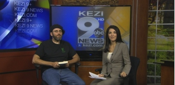 On the set of KEZI 9 News with Holly Menino.