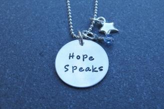 Hope Speaks pendant