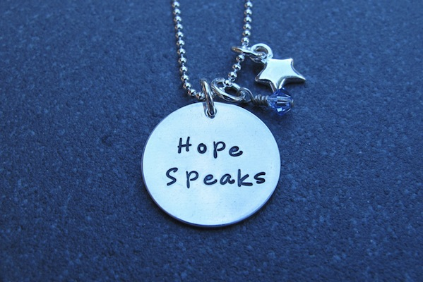 Hope Speaks pendant