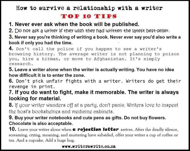 Top Ten Writer Relationship Tips