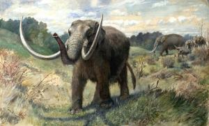 Mastodon herd (painting).