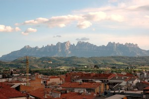 Monserrat, as seen from Manresa, Spain.