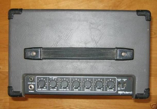 Top view of amplifier
