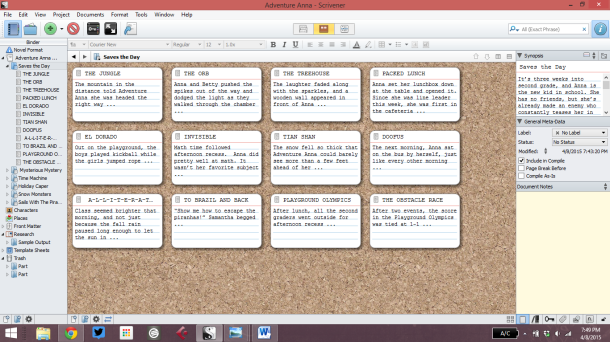 Scrivener screenshot.